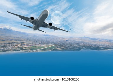 Airplane taking off - Travel by air transport
