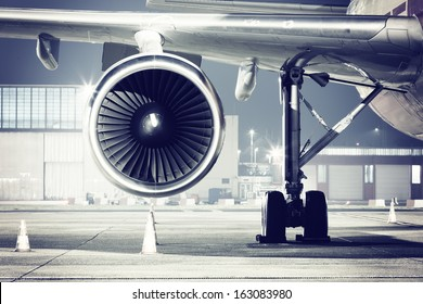 a airplane turbine detail