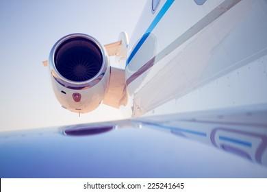 airplane turbine, detail