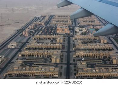Airplane view of Dauha
