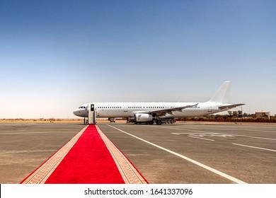 Airplane waiting for VIP passengers in Kinshasa - Republic of the Congo