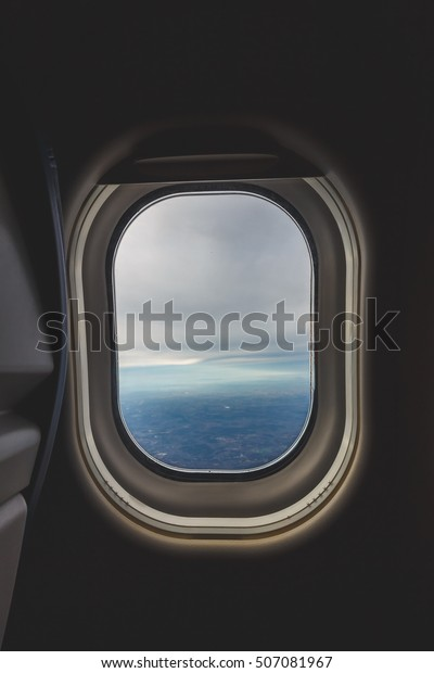 Airplane Window Seat Travel Background Stock Photo Edit Now