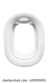 Airplane windows, Isolated with clipping path