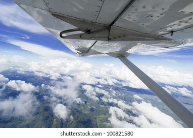airplane wing viewing