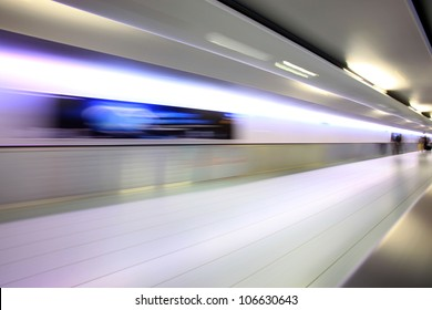 Airport abstract background, blurred movement