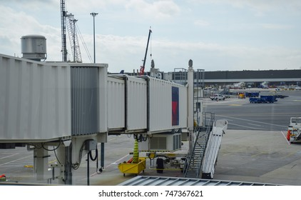 Airport and airplane