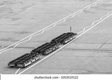 Airport baggage transporter carts