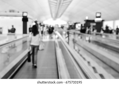 Airport blur background with traveling passengers