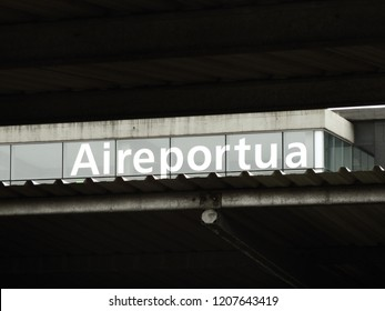 Airport Concept Lettering in Basque Language - Autumn 2018, Hondarribia, Spain