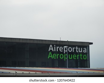 Airport Concept Lettering in Spanish and Basque Language - Autumn 2018, Hondarribia, Spain
