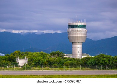Airport control tower at Kota Kinabalu International Airport Sabah.ATC purpose is to prevent collisions,organise & expedite the flow of air traffic,& provide information & other support for pilots.
