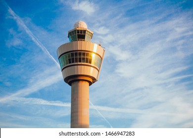 Airport control tower at Schiphol airport