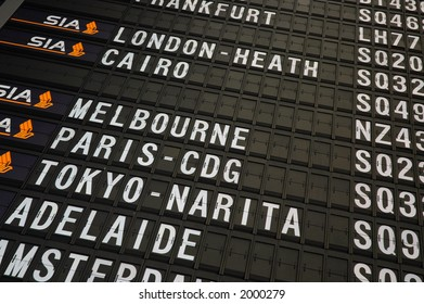 Airport Departure Board Information