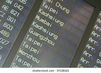 Airport Departure Board Information in Hong Kong