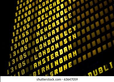 Airport departure timetable detail
