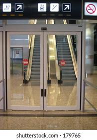 Airport gate door