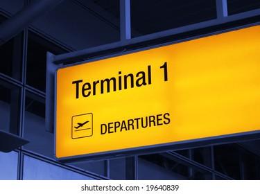 airport guide-board