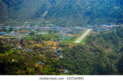 Tenzing–Hillary Airport, also known as Lukla Airport, is a small airport in the town of Lukla, in Khumbu, Solukhumbu District, Nepal