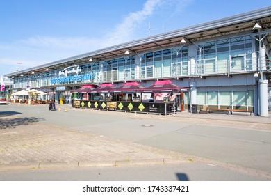 Airport Paderborn-Lippstadt in Westphalia, Germany, 05-26-2020