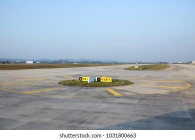 Airport runway corner