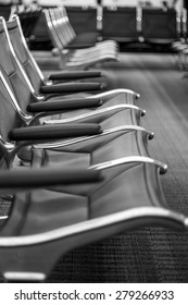 Airport seats in the terminal