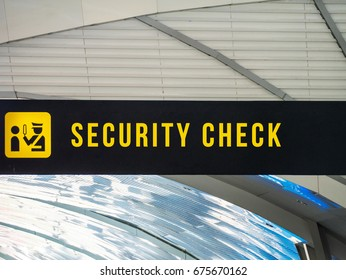Airport Security Check Signage
