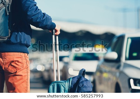 Airport taxi Passenger is
