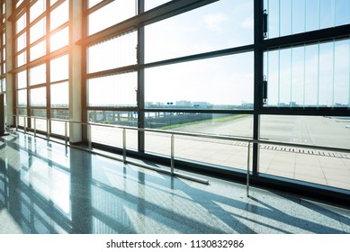 Airport terminal in modern city