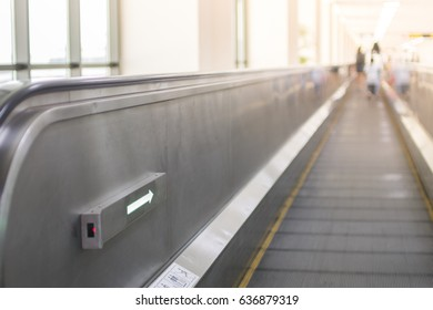 Airport walkway , Electronic walkway at airport for Transportation concept design.