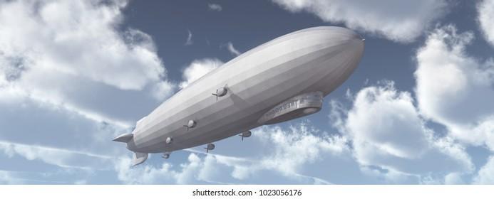 Airship Computer generated 3D illustration