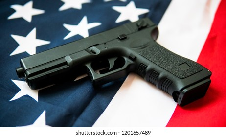 airsoft gun on a white background close-up. firearms practice concept