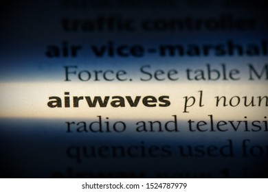 airwaves word in a dictionary. airwaves concept, definition.