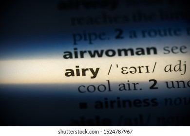 airy word in a dictionary. airy concept, definition.