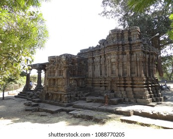 It is an Aishwaryeshwar temple in India. It is ancient temple built completely in rock. This is north side of the temple.