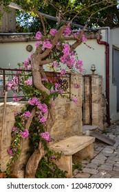 In the aisles of the mountain town of Archanes on the island of Crete, Greece
