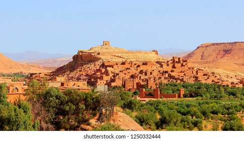 Ait Ben Haddou or Ait Benhaddou is a fortified city along the former caravan route between the Sahara and Marrakech in Morocco