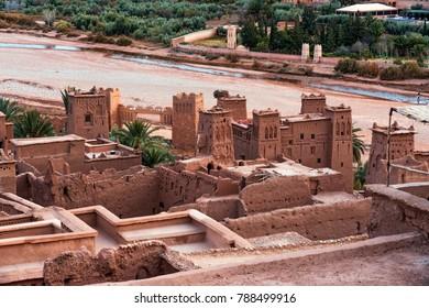 Ait Benhaddou Kasbah at sunset, Ouarzazate, Morocco