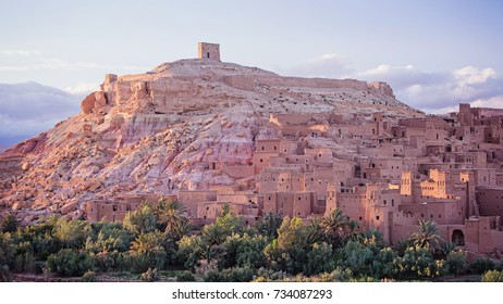 AIT-BEN HADDOU, MOROCCO -May 10: medieval village on May 10, 2016 in Ait-Ben Haddou. The village is listed under the UNESCO world heritage sites and is today used as film set.