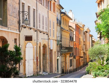 Aix en Provence old town street, Provence of France