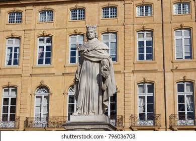 AIX-EN-PROVENCE / FRANCE - FEBRUARY 2015: Statue in the historic centre of Aix-en-Provence town, France