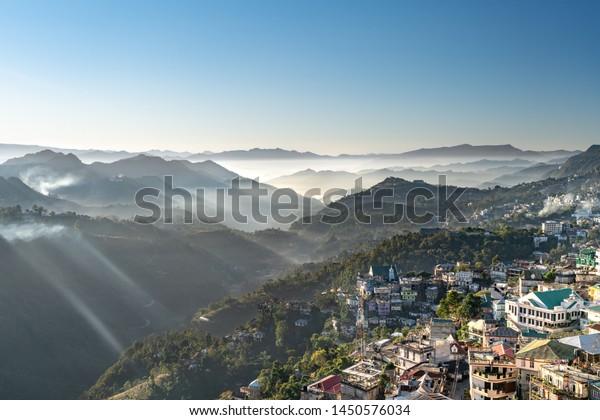 La ville d'Aizawl - capitale de Mizoram