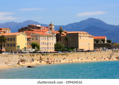 Ajaccio, Corsica and the city beach