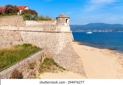 Ajaccio, La Citadelle. Old stone fortress on the sea cost. Corsica, France. Popular touristic landmark