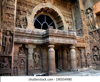 Ajanta Cave, Maharashtra, India - 2nd century BC. UNESCO World Heritage Site.