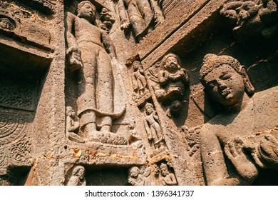 Ajanta caves, ancient buddha carving in India