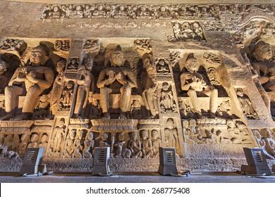 Ajanta caves near Aurangabad, Maharashtra state in India