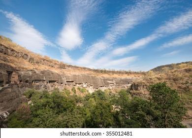 Ajanta caves near Aurangabad, Maharashtra, India