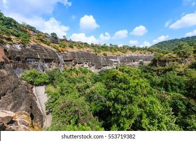 Ajanta caves world heritage near Aurangabad, India