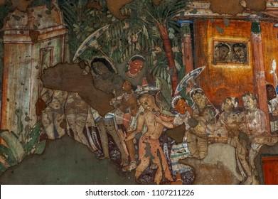 ajanta painting near aurangabad maharashtra INDIA