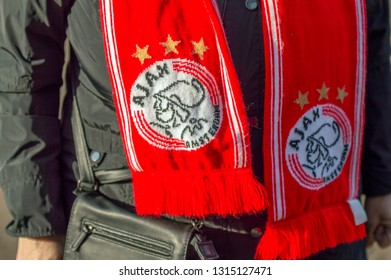 Ajax Supporters Shawl At Amsterdam The Netherlands 2019